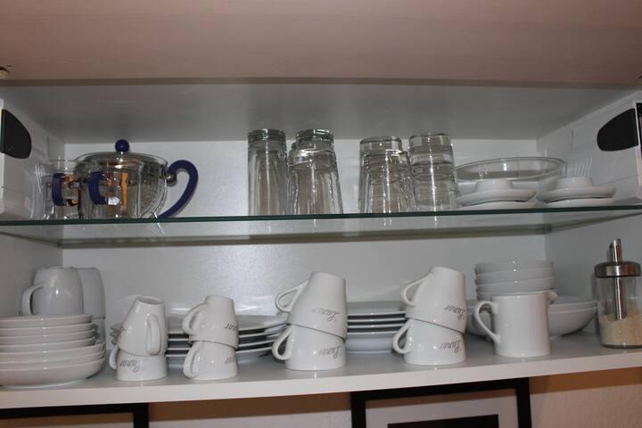 Kaffe-, Tee- und Espresso Tassen, Gläser für Wein, Sekt und Bier