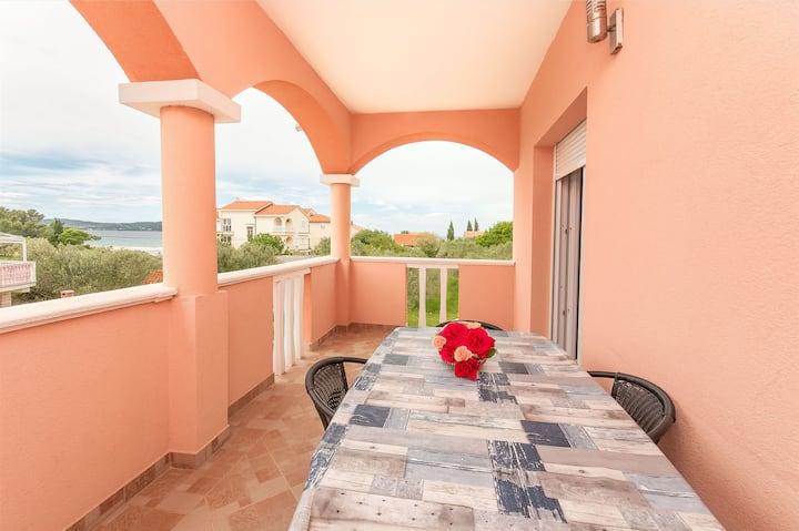 One bedroom Apartment, seaside in Sukosan (Zadar), Terrace