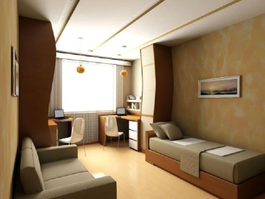 Дизайн кімнати 18 кв м