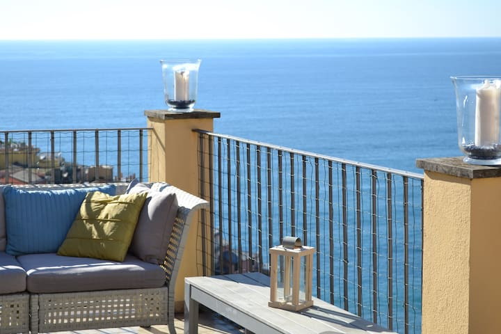 appartaamento vista mare con terrazza e giardino - Manarola - Wohnung