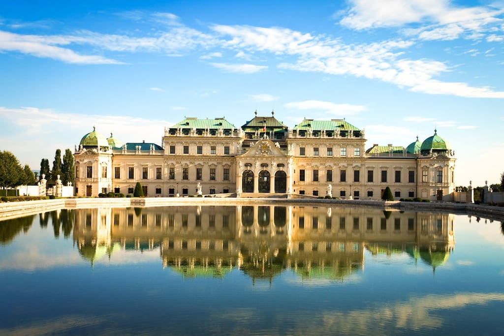 Palace Belvedere with Klimt's famous kiss painting is just around the corner.