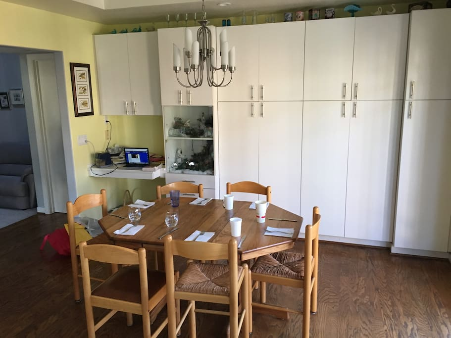Indoor Dining Area adjacent to Kitchen; w/ Guest Cupboards