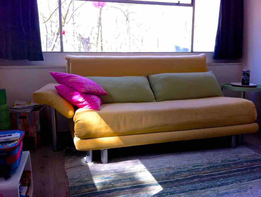 sofabed in living