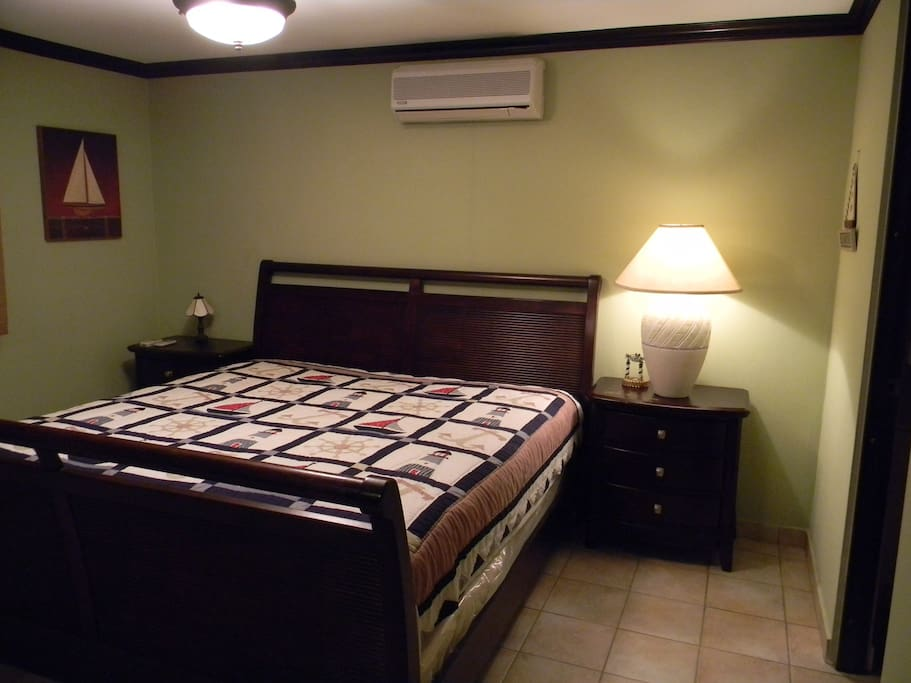 Master Bedroom with King Bed and bathroom