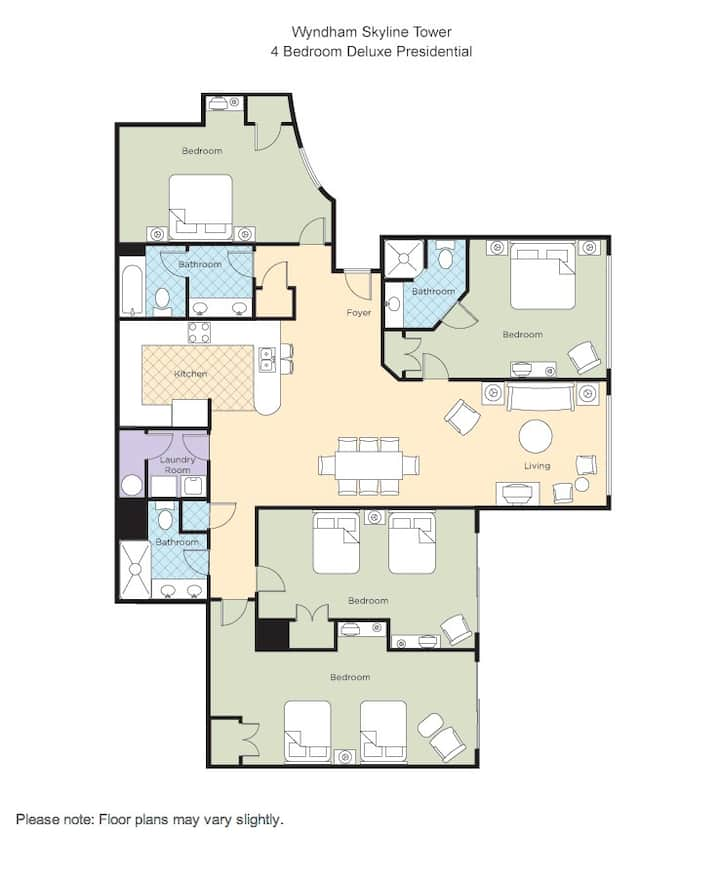 Wyndham Skyline Tower 4Br Pres!!!!! IB1