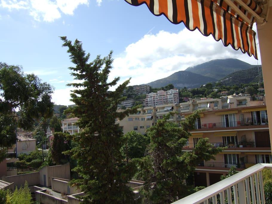 vue balcon terrasse