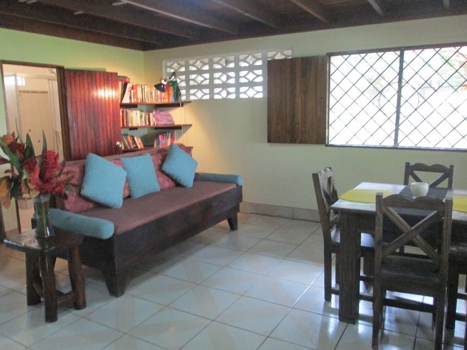 Dining room off of kitchen and entrance to terrace