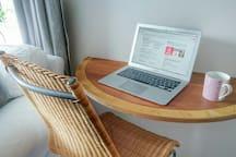 Laptop working area