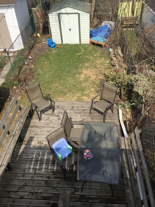 Backyard with Deck
