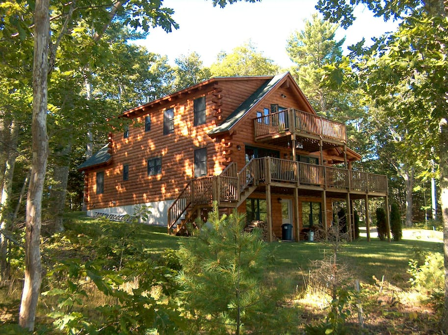 It's a log house.  Here's proof.