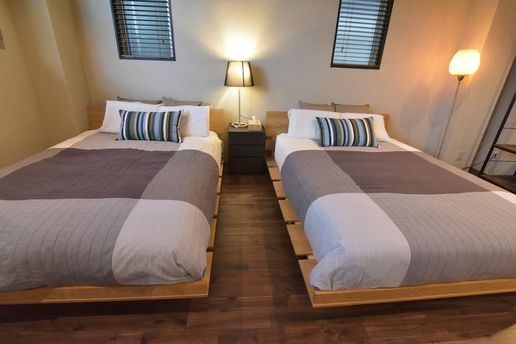 #202 double beds