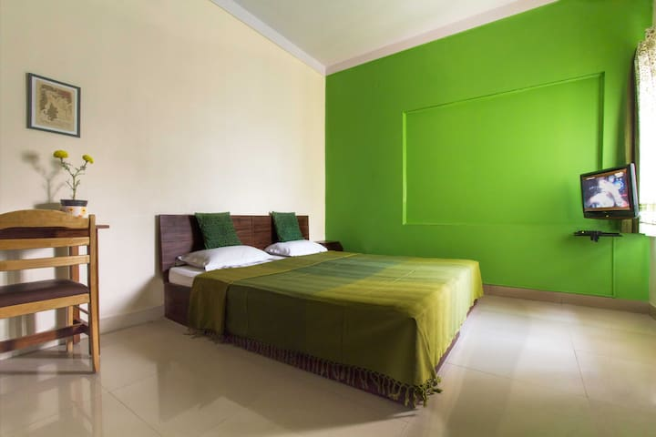 Peppy green room in Indiranagar