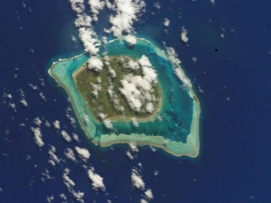 Photo taken by NASA astronaut of Tubuai, Anua Austral Islands French Polynesia