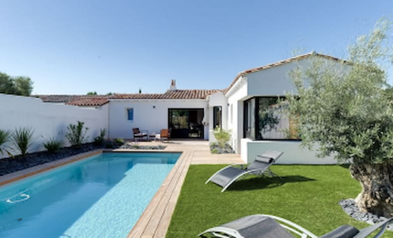 charming villa with heated and secured pool, - Rivedoux-Plage - Villa