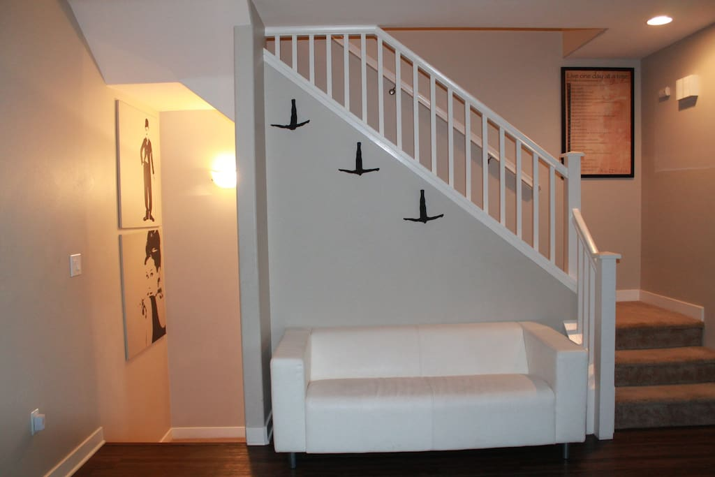 House Stairs and Extra Couch