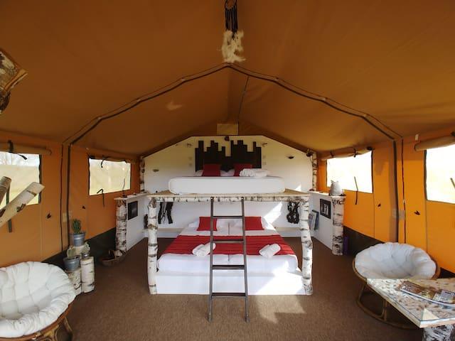 Alpagaterie : petit lodge et cabanon