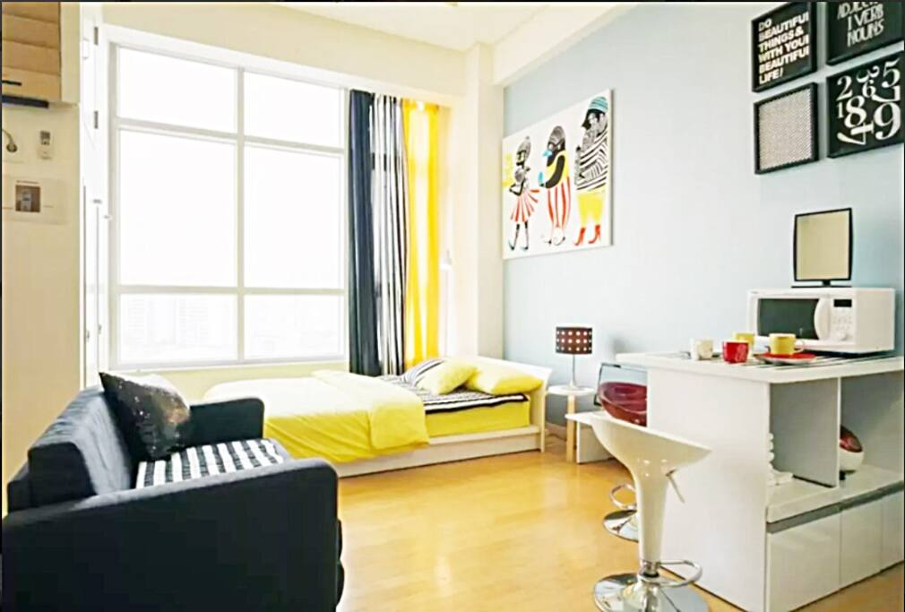 Duplex ( 1story and 2story )  3min.walk to the subway. 4 line. ( #1 , #4 , airport railroad , joungyang ) It is easy to go the famous place.  If you go to busan, it is easy to take by KTX. My place is in front of KTX station.