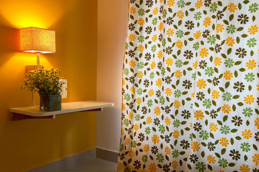 peppy yellow floral curtains