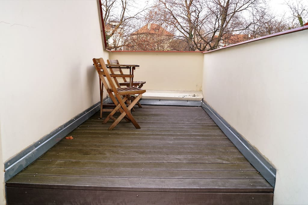 Terrace for your apartment only.
