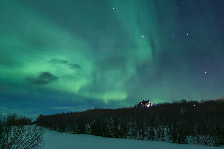 Rjúpa Guesthouse, northern lights, aurora borealis