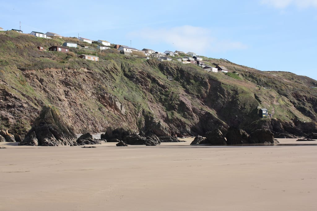 The house as seen from the beach,