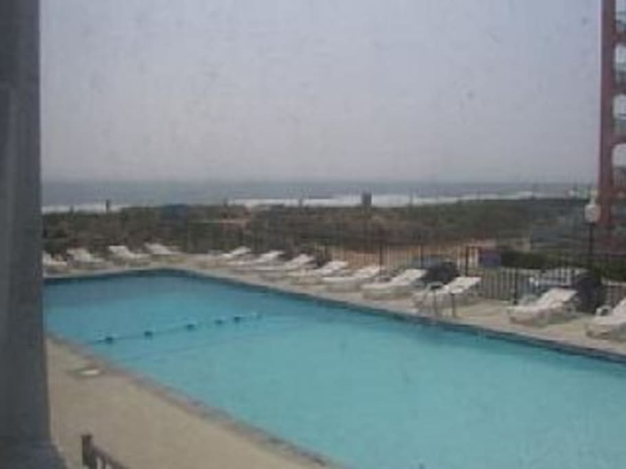 Relax at our large Beach Front/ Ocean Front swimming pool. Lounge chairs are avalable or you can bring your favorite chair. You and your kids will love it! Our pool is southern exposure which provides full sun for most of the day!