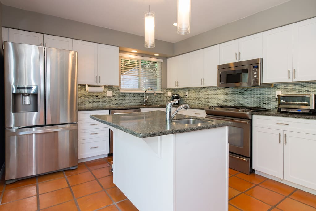 Kitchen, natural gas stove top