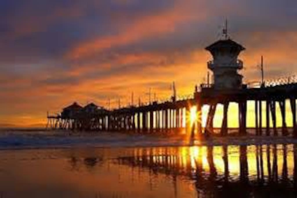 Famous Huntington Beach Pier - Sunset Walk