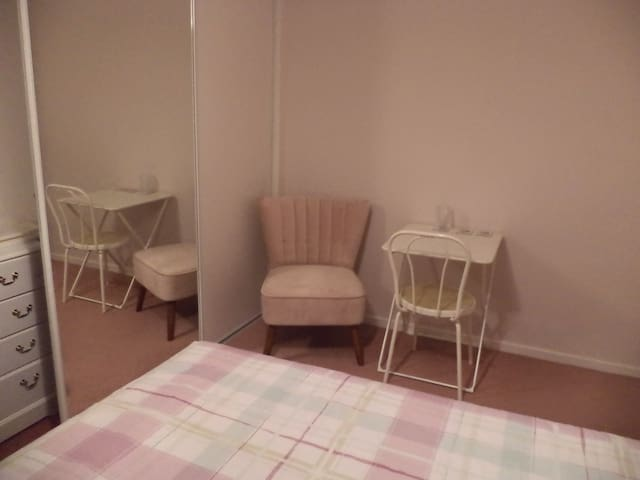 Easy chair plus table and chair