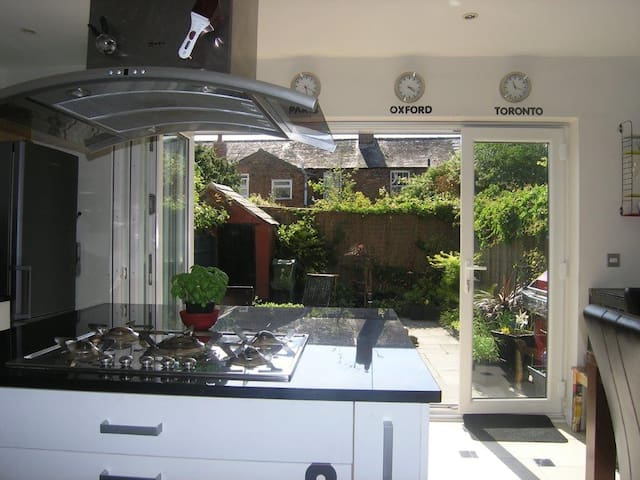 Gas cooktop, with dishwasher and a lovely place to sit outside on long summer nights