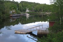 Our boathouse and dock on Martins River with access to Mahone Bay