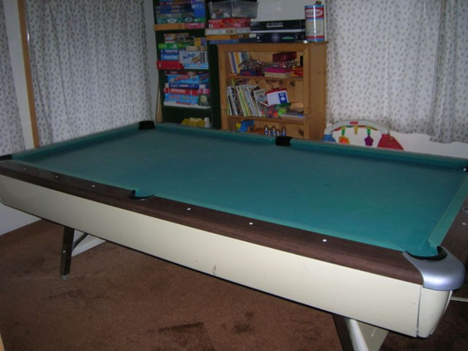 Upstairs--toys and pool table