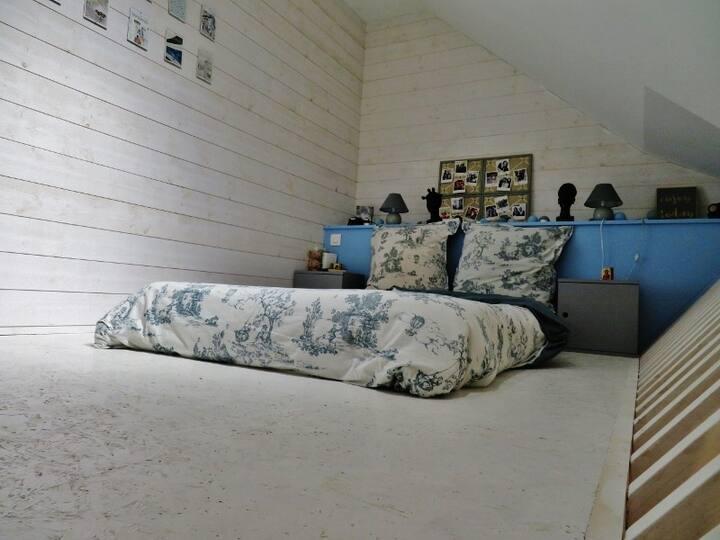 Chambre Belle époque 2 pers. bois de Carnac