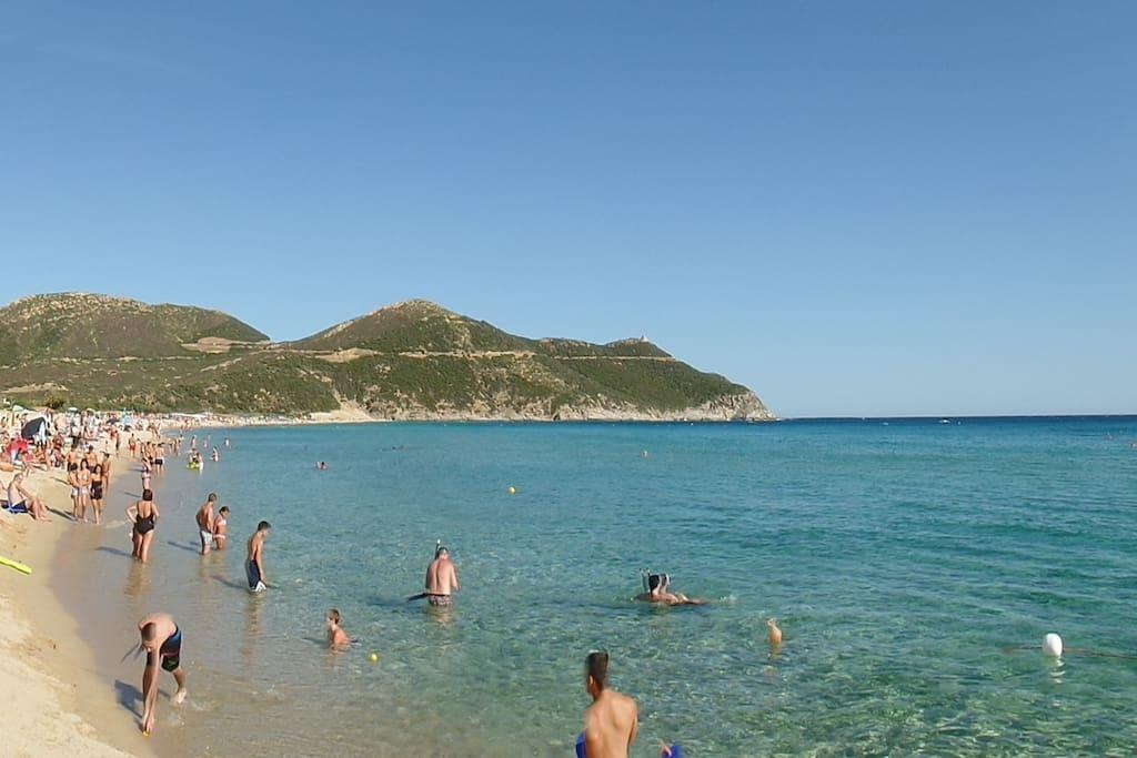 Panorama spiaggia di Solanas verso lato est