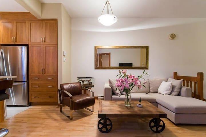 Romantic Getaway on Plateau 1 MIN to metro+parking - Montréal - Apartment