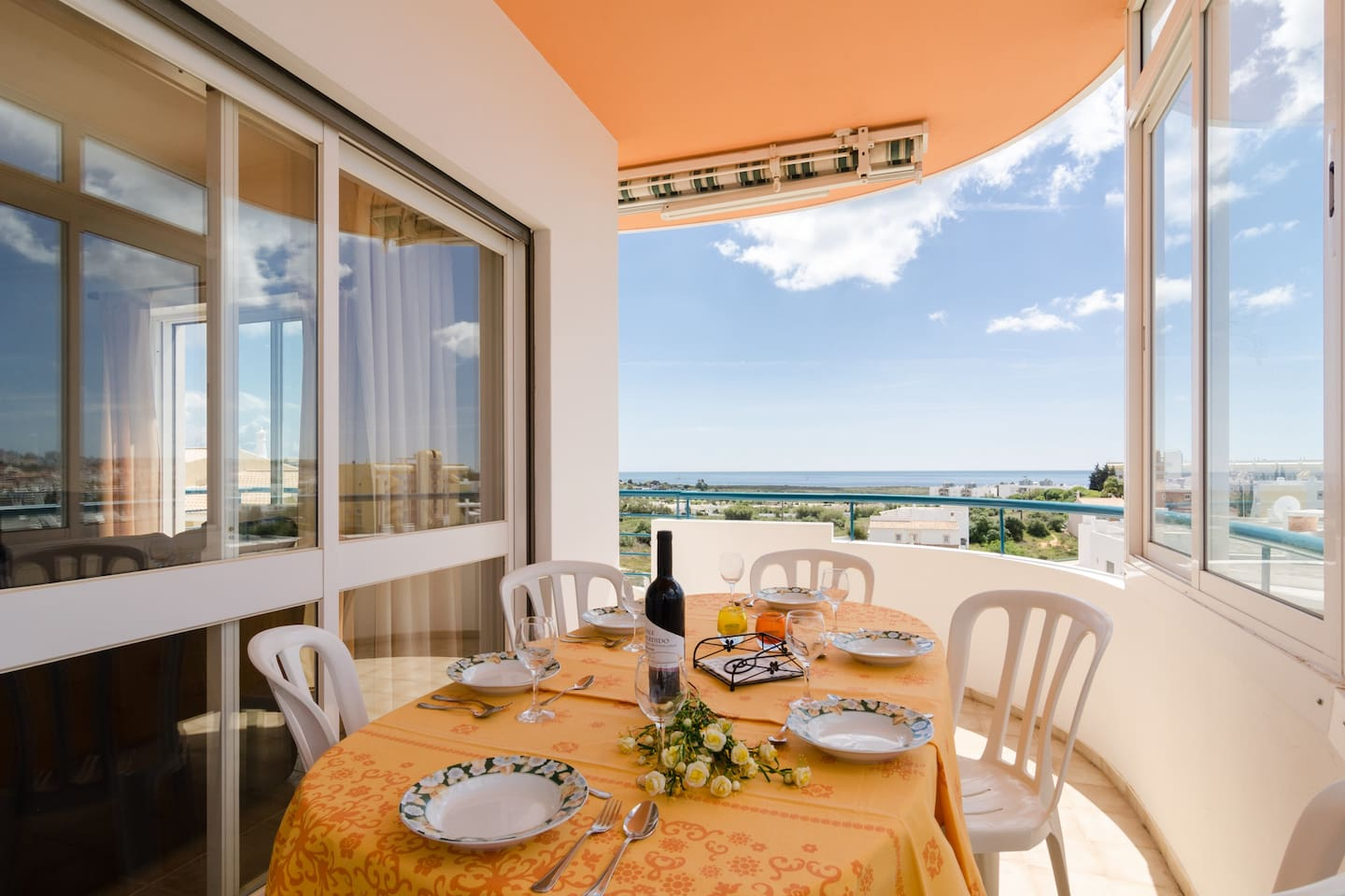 Have lunch or dinner on the balcony, enjoying the fantastic view
