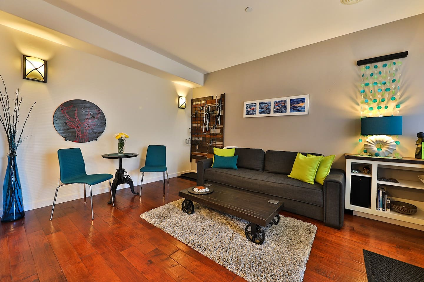 Our downtown condo is comfortable, modern and stylish and always sparkling clean.