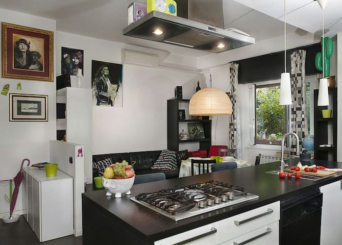 Open space kitchen and living room