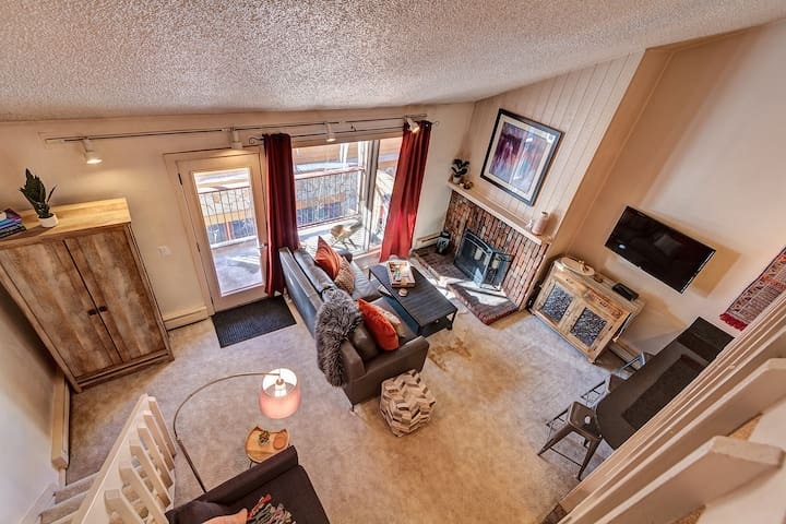 Spacious with plenty of storage  (couch has been updated to a tan fabric sleeper sofa).