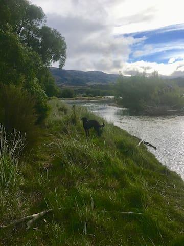 Riverside walks in both directions