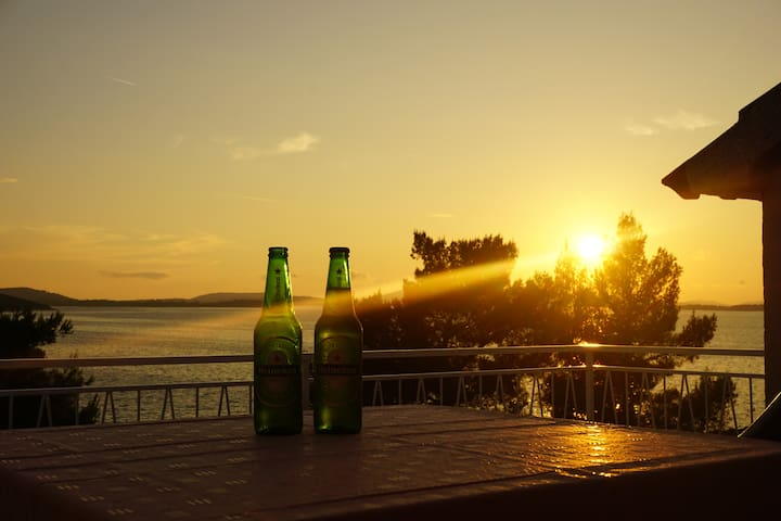 Enjoy a beer on the balcony