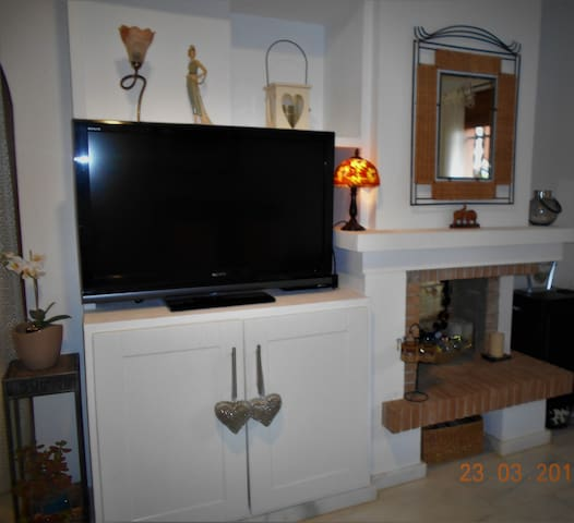 Fireplace and tv unit