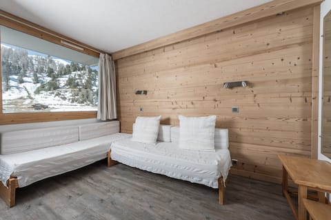 Plagne-Bellecôte, 5 persons, South, ski-in ski-out