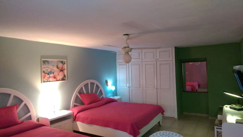 2 beds private apt., hotel, center! - Sosúa - Appartement