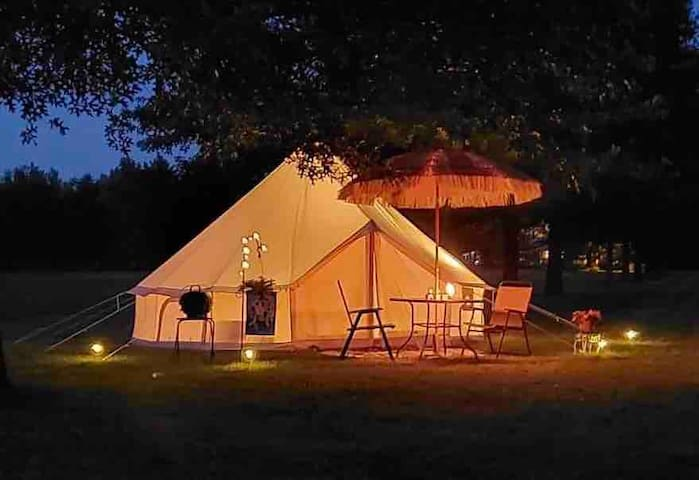 Beautiful Bell Tent with electricity!