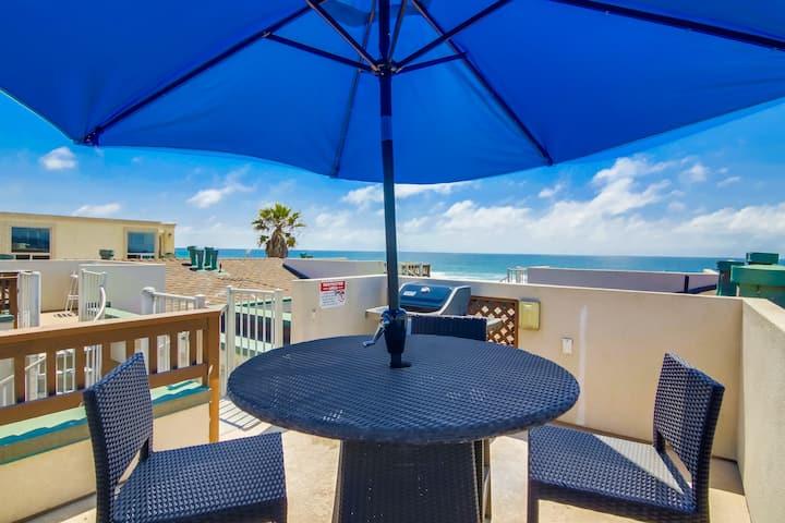Private Rooftop Deck W Ocean Views!!