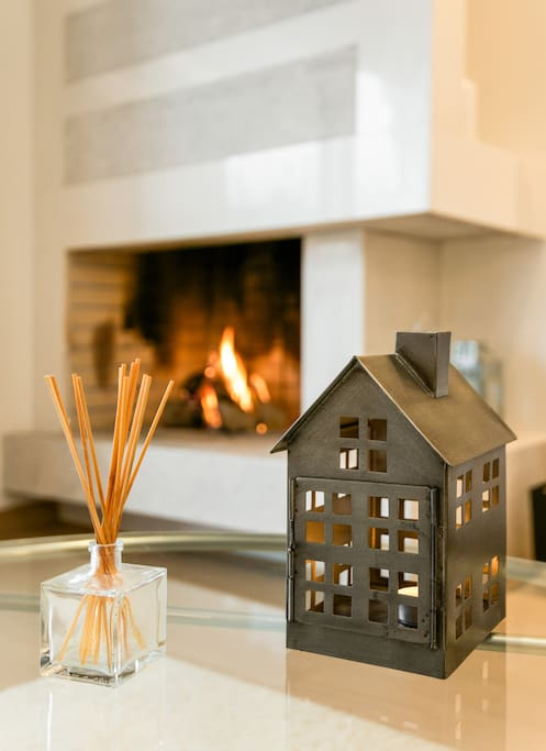 enjoy relaxing moments by the fireplace!