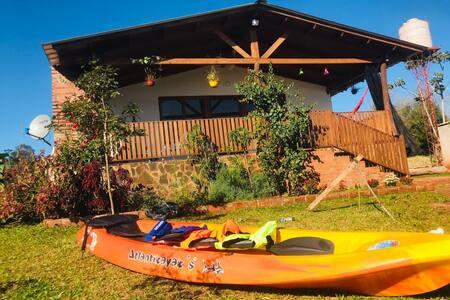 la casa del-lago descanso a 10 km delas cataratas