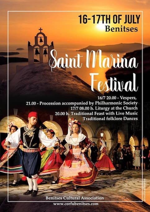 "Saint Marina Festival is next to ""St.Marina"". Enjoy a traditional celebration!"