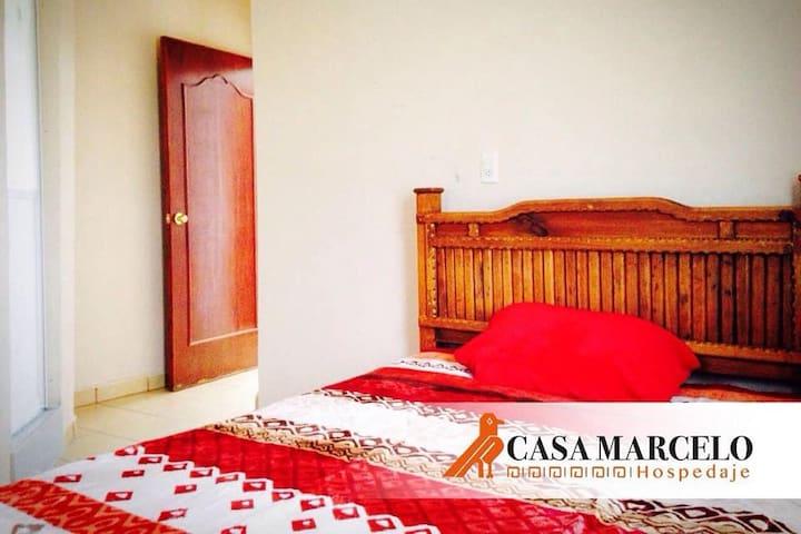 Hotel Casa Marcelo Hab#8(Sencilla para 2 Personas)